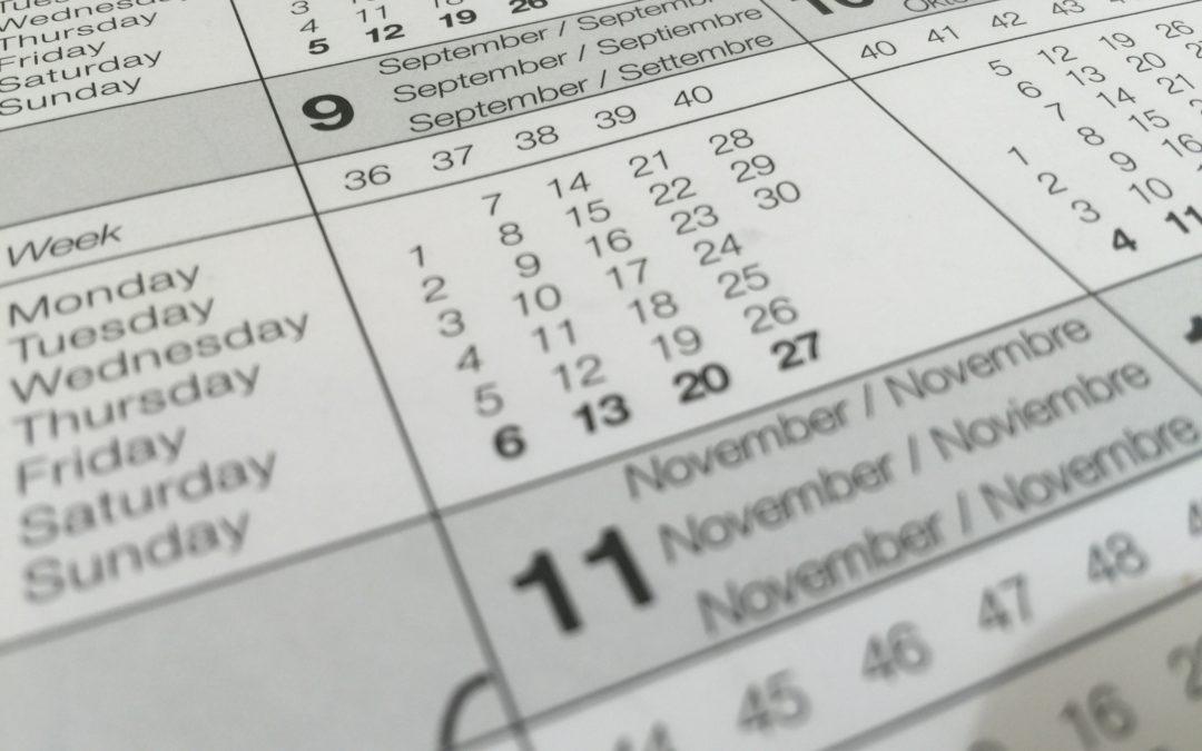 Coronavirus : mises à jour du calendrier FMDL