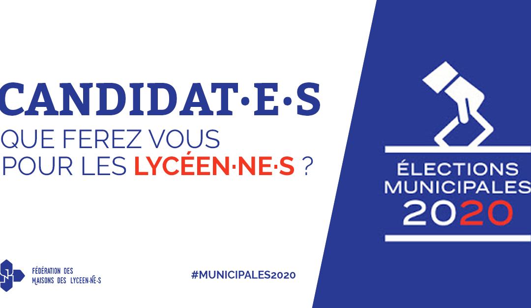 Candidat·e·s aux municipales : que ferez vous pour les lycéen·ne·s ?